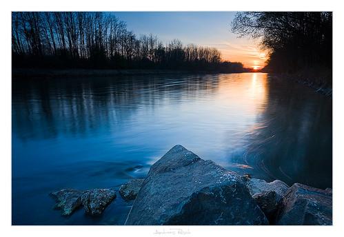 sunset river austria mur styria naturesfinest