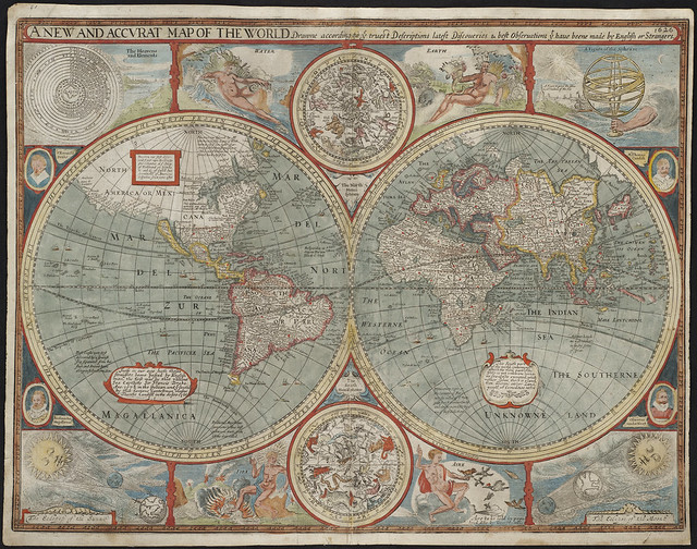 Old map of the world - Flickr CC maps.pbl