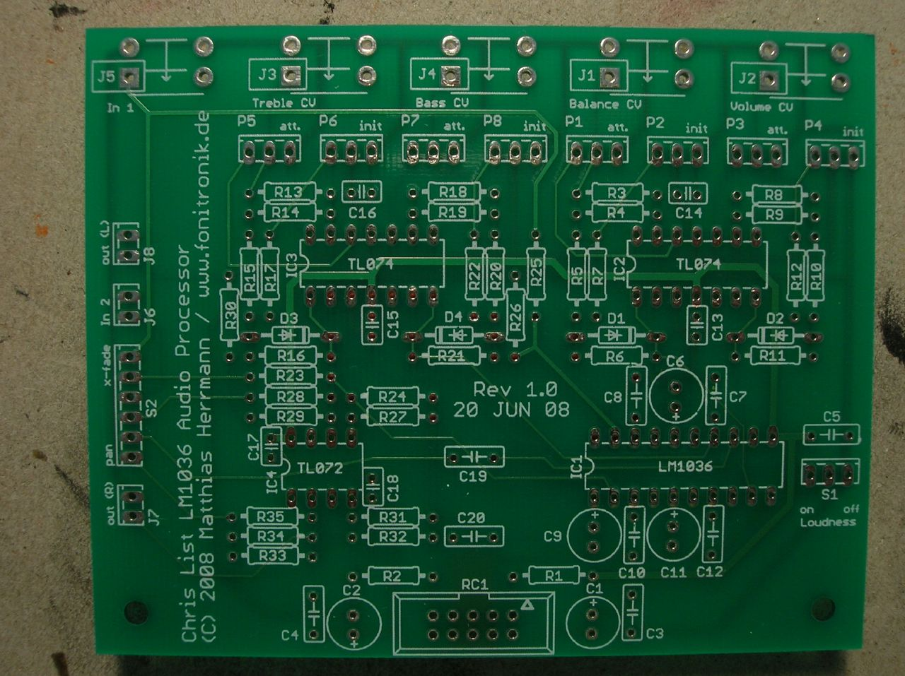 Lm1036 Audio Processor Pcb A Photo On Flickriver Circuit