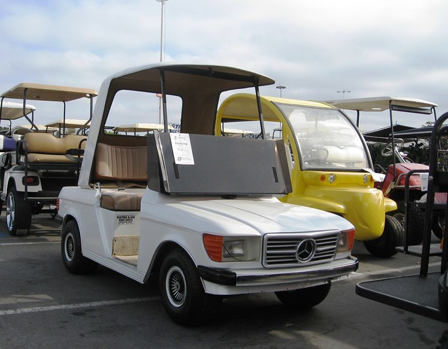 mercedes benz golf cart all electric seen in costa mesa flickr photo sharing. Black Bedroom Furniture Sets. Home Design Ideas