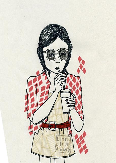La Chica morena y el batido de fresa
