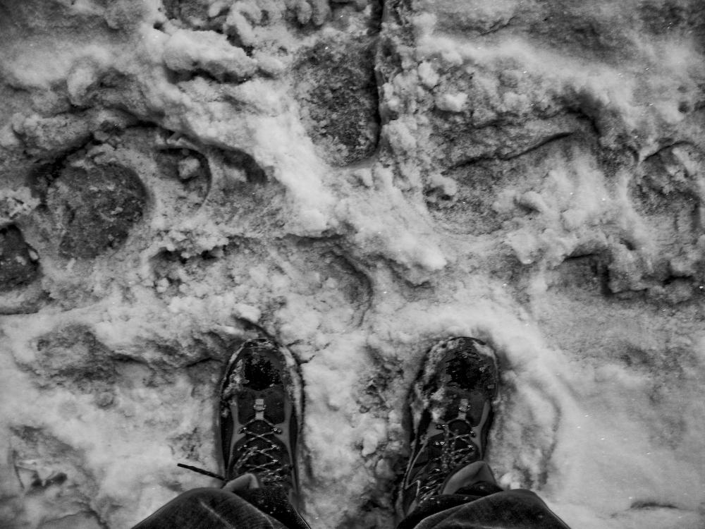 Slushie snow and boots