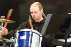 One drummer drumming