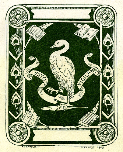 [Bookplate of Esto Vigilans]