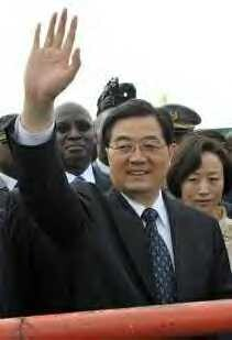 Chinese President Hu Jintao arrives in the east African nation of Tanzania on February 14, 2009. by Pan-African News Wire File Photos