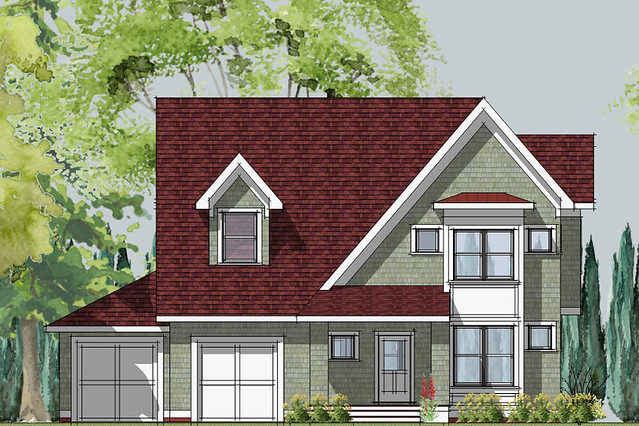 Small Bungalow Front Elevation : Front elevation cottage style home joy studio design