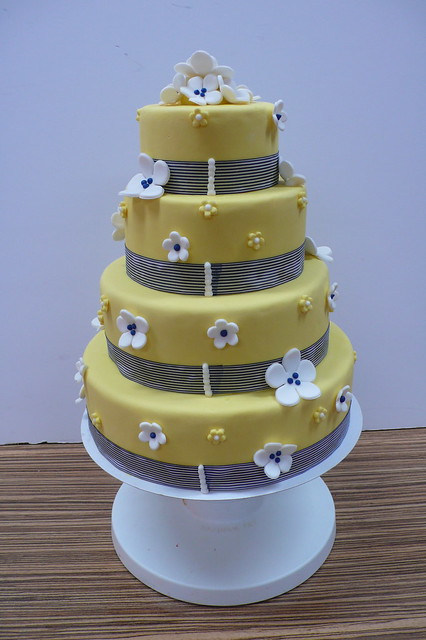 Classic Yellow Navy wedding cake 3 by CAKE Amsterdam Cakes by ZOBOT