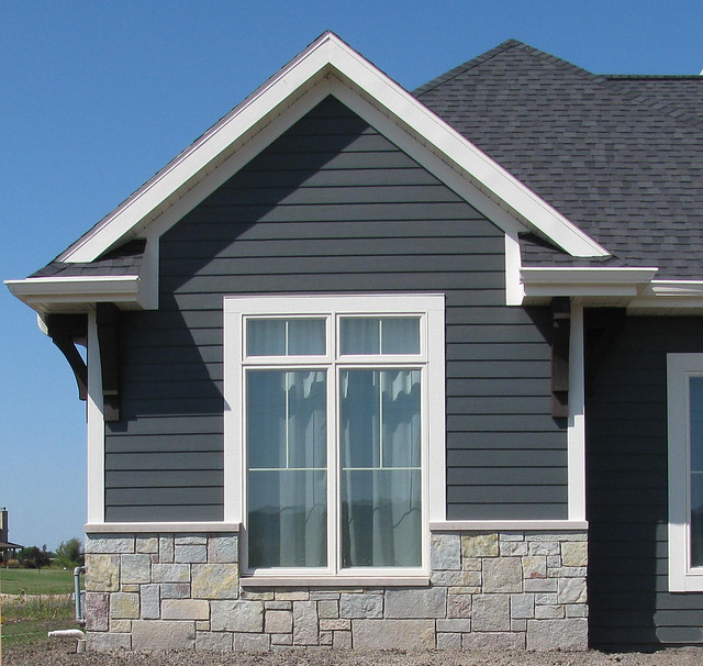 Buff gray castle rock flickr photo sharing - Exterior brick and siding combinations ...