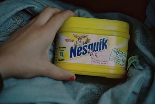 Strawberry Nesquick aaaaaa <3