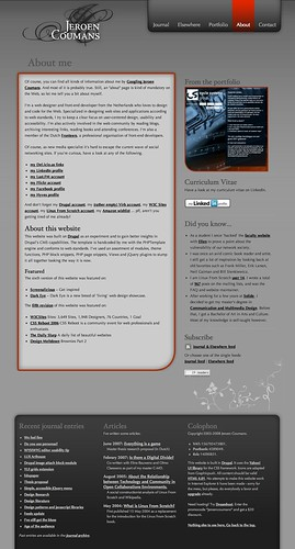 My website anno 2008