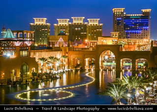 Kuwait - Al Kout Mall in Fahaheel at Dusk - Twilight - Blue Hour - Night