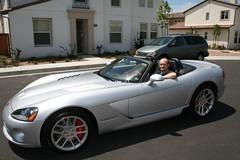 muscle car(0.0), automobile(1.0), automotive exterior(1.0), wheel(1.0), vehicle(1.0), performance car(1.0), automotive design(1.0), land vehicle(1.0), luxury vehicle(1.0), srt viper(1.0), supercar(1.0), sports car(1.0),