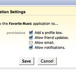 hi5 - Favorite Music Permissions