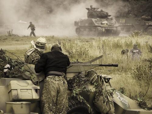 US V Germany Mock Battle