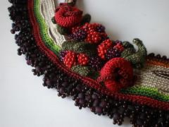 Rubus Fruticosus  Freeform Crochet Necklace