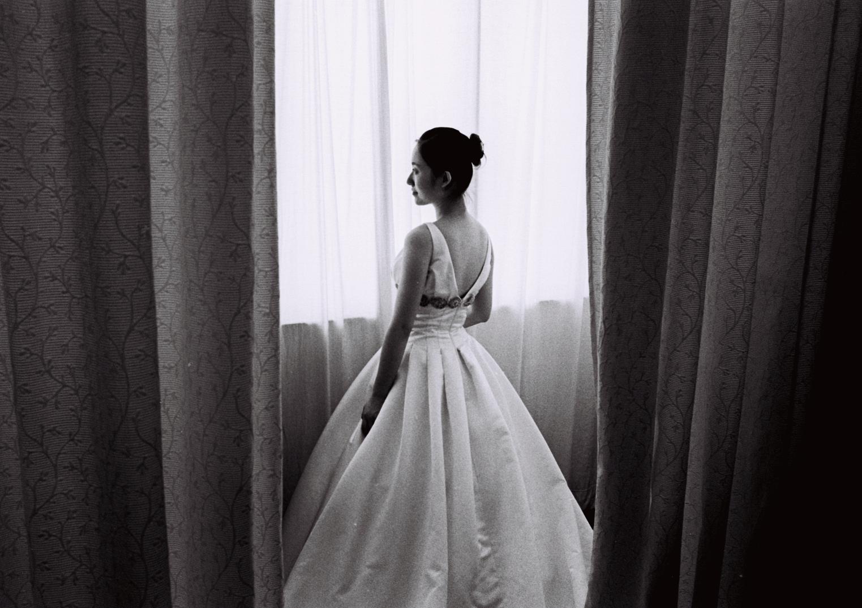 wedding dress in black
