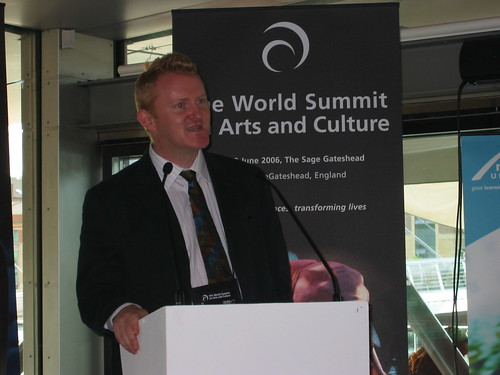 Mark Robinson, Executive Director of Arts Council England, North east opens the third World Summit on Arts and Culture