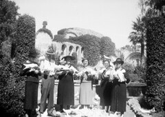The Knotts and others at Mission San Juan Capistrano, circa 1940s b