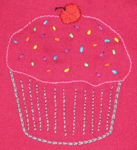 cupcake bib detail