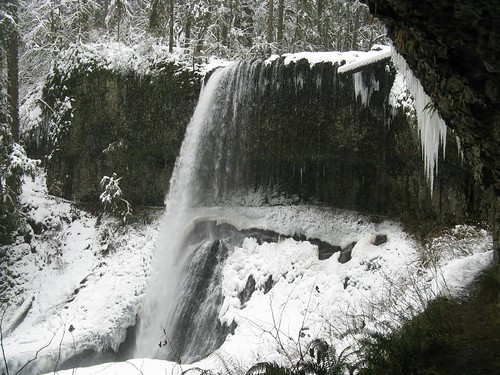 park snow fall water oregon creek silver snowshoe state hiking north falls icicle geology middle dopplr:explore=agh1