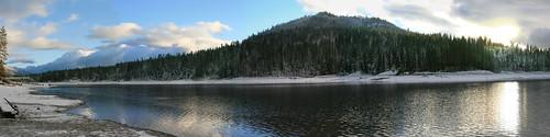 california trees winter panorama lake snow cold forest panoramic basslake dayafterchristmas