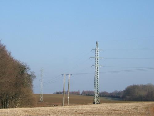 Landscape with pylons