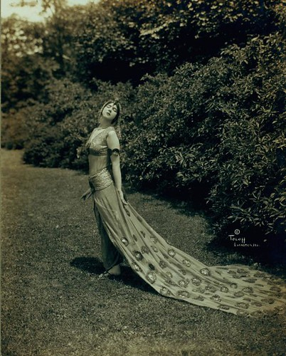 Ruth St. Denis in The Peacock, at Ravina Park a few days after the world premiere 1914