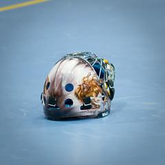 helmet, goaltender mask, blue,