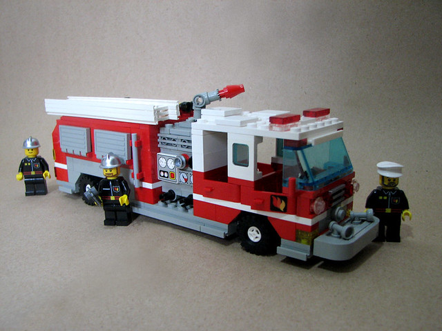 Lego Fire Trucks in Action Lego City Fire Truck 60002