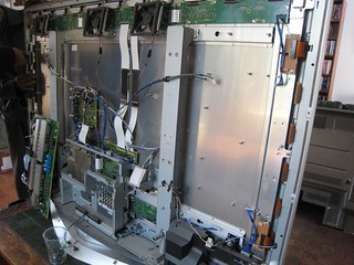 what the plasma tv looks like inside