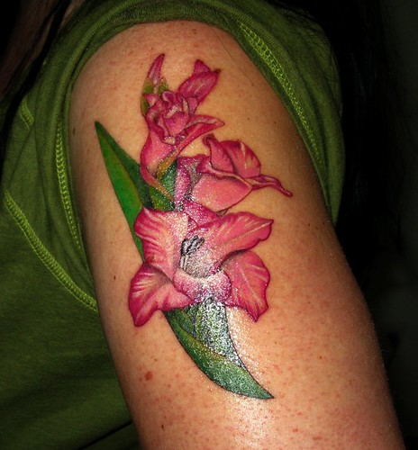 Gladiolus Tattoo