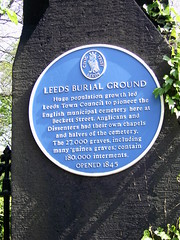 Photo of Leeds Burial Ground blue plaque