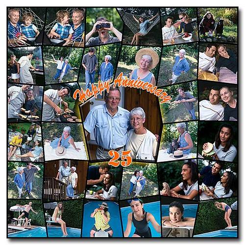 Wedding Anniversary Photo Collage