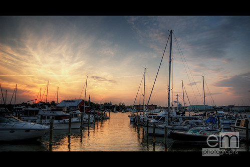 sunset sky water clouds boats dock annapolis f8 hdr eastport sigma1224 explored canoneos30d anawesomeshot