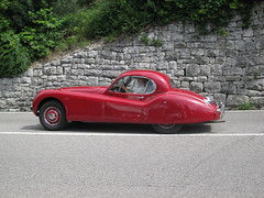 Red old sports car