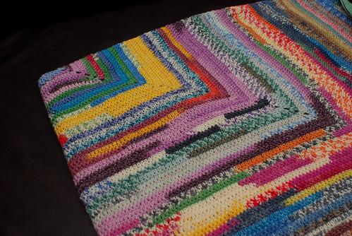 Scrap Yarn Knitting Patterns : Square Target Scrap Yarn Blanket