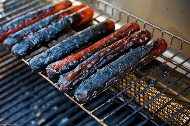 Charred Hot Dog