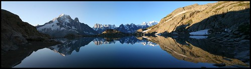 panorama mountain lake alps reflection landscape climb altitude hike mountaineering moutain montblanc treck rorschachtest lacblanc aiguilleverte grandesjorasses aiguillesrouges p1f1 lacblanc0708