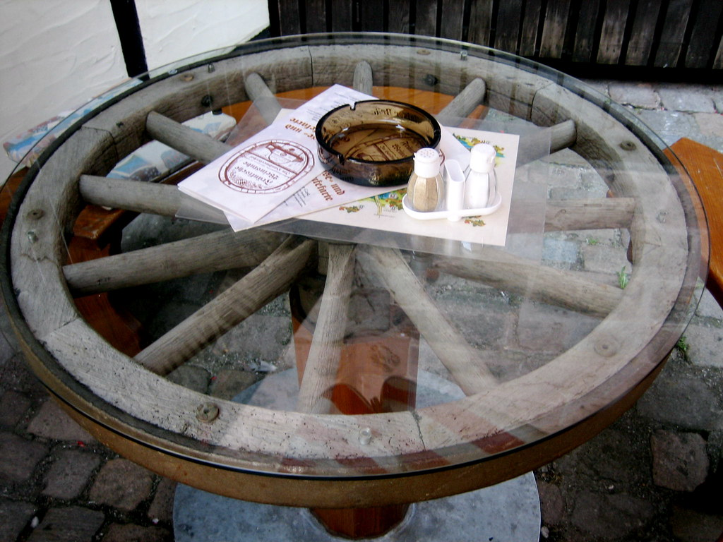 Wagon Wheel Coffee Tables