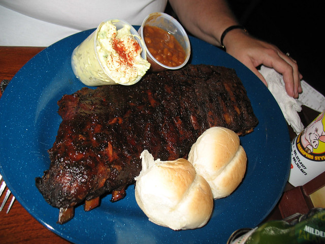 """... in """"Memphis-Style"""" pork ribs and pulled-pork style barbeque"""