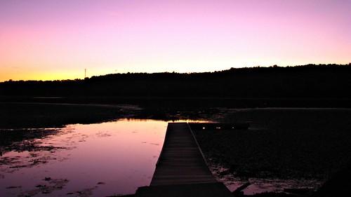 park pink sunset sky lake ny newyork silhouette canon photography dock photographer purple dusk lilypads caitee caiteesmith