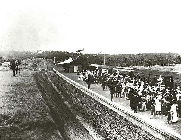 Opening Bankstown Railway Station, 1909