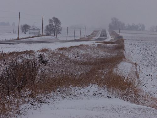 winter snow landscape snowstorm iowa prairie z612 1007244gf
