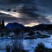 Sunrise Over Frozen River by JeremyT