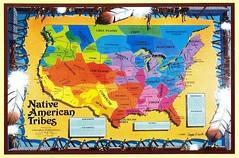 Usa Native American Tribes Map Justmeskj Postcards Flickr