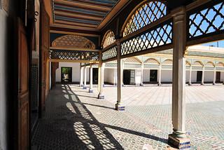 Image of Bahia Palace near Menara. marrakech marrakechbahiapalace