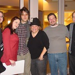 Joe Arthur with WFUV staff after his Marquee performance