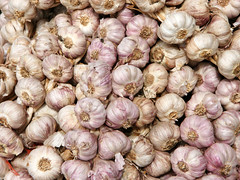 onion(0.0), shallot(0.0), plant(0.0), vegetable(1.0), garlic(1.0), produce(1.0), food(1.0),