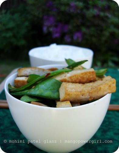 snow peas & tofu