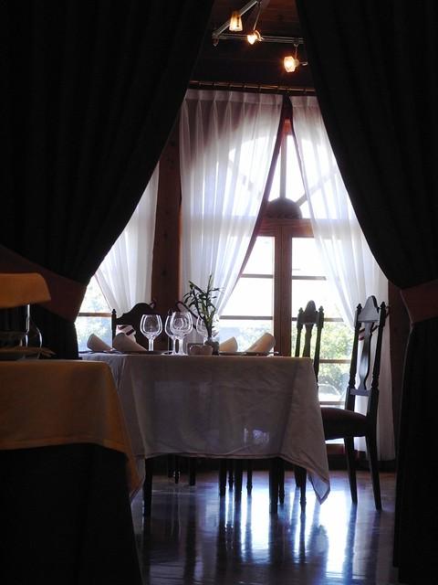 Detalle del comedor del Restaurante Blanco